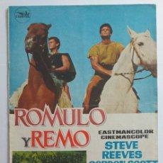 Cine: GUIA PUBLICITARIA 8 PAGINAS ROMULO Y REMO STEVE REEVES. Lote 276546438