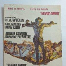 Cinéma: GUIA PUBLICITARIA DOBLE NEVADA SMITH STEVE MCQUENN. Lote 276553248