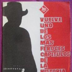 Cine: GUIA PUBLICITARIA CINE EL PISTOLERO GREGORY PECK HELEN WESTCOTT G1034. Lote 276773778