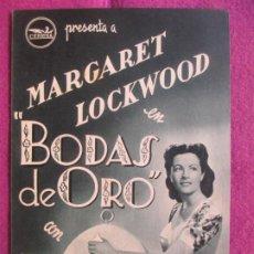 Cine: GUIA PUBLICITARIA CINE BODAS DE ORO MARGARET LOCKWOOD G1037. Lote 276774168