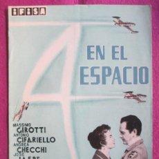 Cinema: GUIA PUBLICITARIA CINE 4 EN EL ESPACIO MASSIMO GIROTTI ANTONIO CIFARIELLO G1083. Lote 277588268