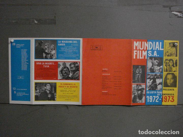 Cine: G9330 LISTA DE MATERIAL ORIGINAL MUNDIAL FILM 1972-73 PAUL NEWMAN PETER SELLERS ANALIA GADE TERROR - Foto 2 - 277633268