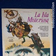 Cine: GUIA PUBLICITARIA SIMPLE. LA ISLA MISTERIOSA. JULIO VERNE.. Lote 277712228