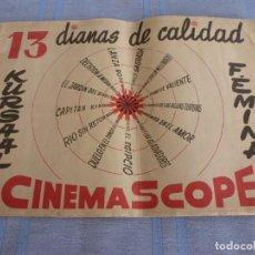 Cine: (BTA)ALBUM PUBLICITARIO ORIGINAL- CINES KURSAL Y FEMINA -AÑOS 50-DE LOS PROXIMOS ESTRENOS. Lote 277754848