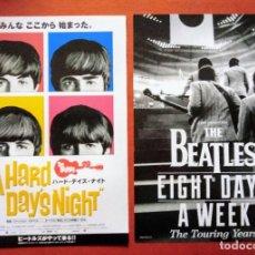 Cine: PROGRAMA GUÍA ORIGINAL JAPONÉS . A HARD DAY'S NIGHT Y THE BEATLES: EIGHT DAYS A WEEK JAPÓN. Lote 277835723