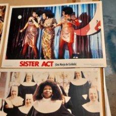 Cine: LOTE 4 CARTELES DE CINE : SISTER ACT( UNA MONJA DE CUIDADO ) WHOOPI GOLDBERG. Lote 278974408
