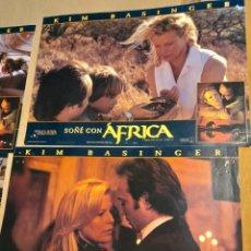 Cine: LOTE 4 CARTELES DE CINE : SOÑE CON AFRICA ( KIM BASINGER ). Lote 278975153