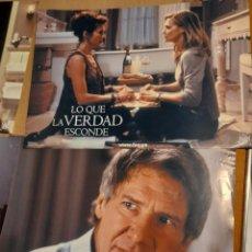 Cine: LOTE 4 CARTELES DE CINE : LO QUE LA VERDAD ESCONDE ( HARRISON FORD, MICHELLE PFEIFFER ). Lote 278975408