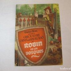 Cine: ROBIN DE LOS BOSQUES-ERROL FLYNN-GUIA PUBLICIDAD DE CINE-VER FOTOS-(V-22.894). Lote 284179903