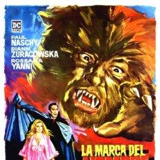 Cinéma: LA MARCA DEL HOMBRE LOBO GUÍA ORIGINAL SIMPLE DE SU ESTRENO EN ESPAÑA TERROR DE CULTO PAUL NASCHY. Lote 287088223