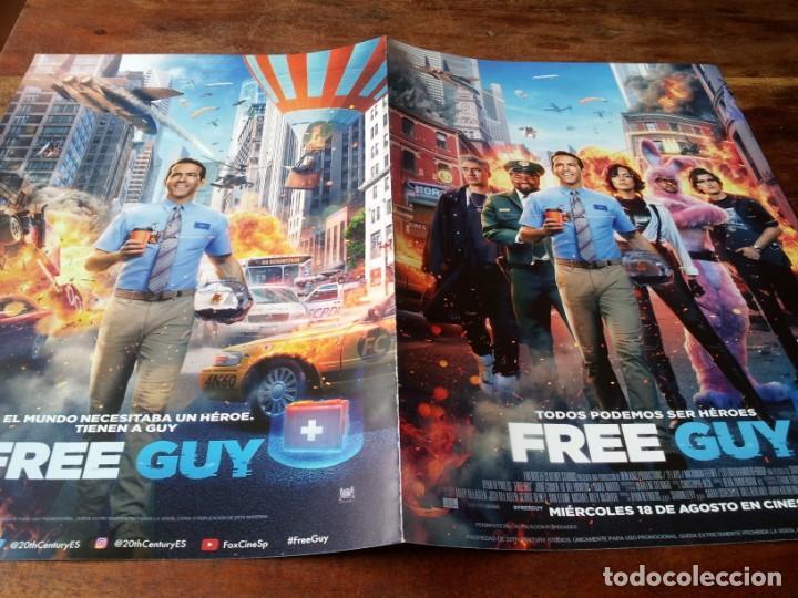 FREE GUY - RYAN REYNOLDS, JODIE COMER, JOE KEERY, LIL REL HOWERY - GUIA ORIGINAL FOX 2021 (Cine - Guías Publicitarias de Películas )
