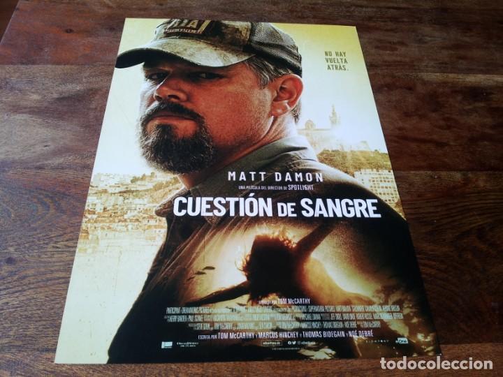 CUESTION DE SANGRE - MATT DAMON, ABIGAIL BRESLIN, CAMILLE COTTIN - GUIA ORIGINAL EONE 2021 (Cine - Guías Publicitarias de Películas )