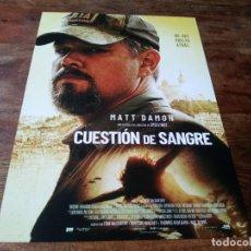 Cinema: CUESTION DE SANGRE - MATT DAMON, ABIGAIL BRESLIN, CAMILLE COTTIN - GUIA ORIGINAL EONE 2021. Lote 287911158
