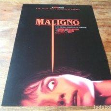 Cinema: MALIGNO - ANNABELLE WALLIS, GEORGE YOUNG, MADDIE HASSON - GUIA ORIGINAL WARNER 2021. Lote 287915428