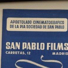 Cine: CATÁLOGO PELÍCULAS ALQUILER SAN PABLO FILMS 1955. Lote 287992228