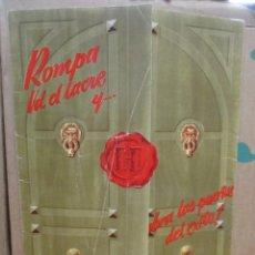 Cine: HISPAMEX FILMS - CATALOGO 1955 - 1956 CARPETA + 9 GUIAS / CARTEL ORIGINALES. Lote 288543973