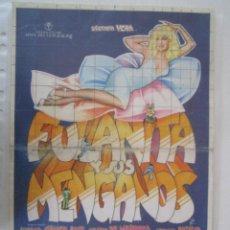 Cine: CARTEL DE CINE DE 20X30 + 2 CARTELITOS DE FULANITA Y SUS MENGANOS DE PEDRO LAZAGA. Lote 289448018
