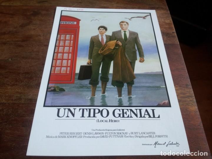 UN TIPO GENIAL LOCAL HERO - BURT LANCASTER, PETER RIEGERT, DENIS LAWSON - GUIA ORIGINAL INCINE 1983 (Cine - Guías Publicitarias de Películas )