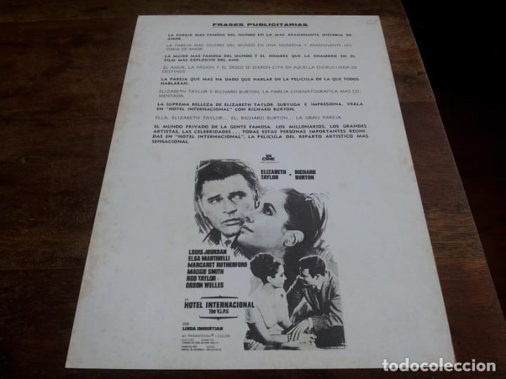 Cine: Hotel Internacional - Elizabeth Taylor,Richard Burton,Orson Welles - guia original incine reposicion - Foto 2 - 293666573