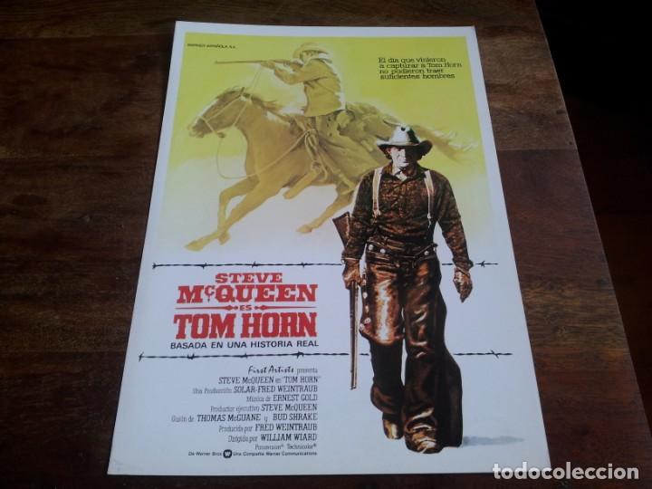 TOM HORN - STEVE MCQUEEN, RICHARD FARNSWORTH, LINDA EVANS - GUIA ORIGINAL WARNER 1980 (Cine - Guías Publicitarias de Películas )