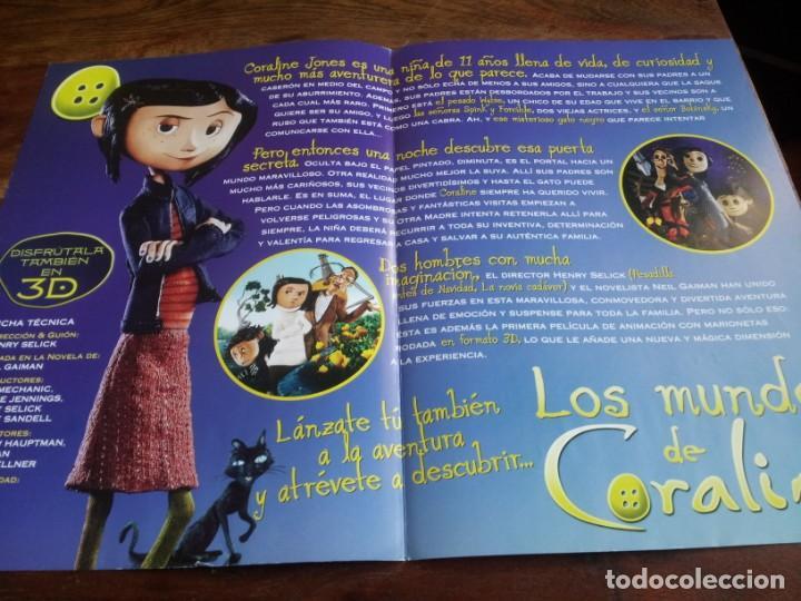 Cine: Los Mundos de Coraline - animacion - Henry Selick - guia original universal año 2009 - Foto 2 - 293666873