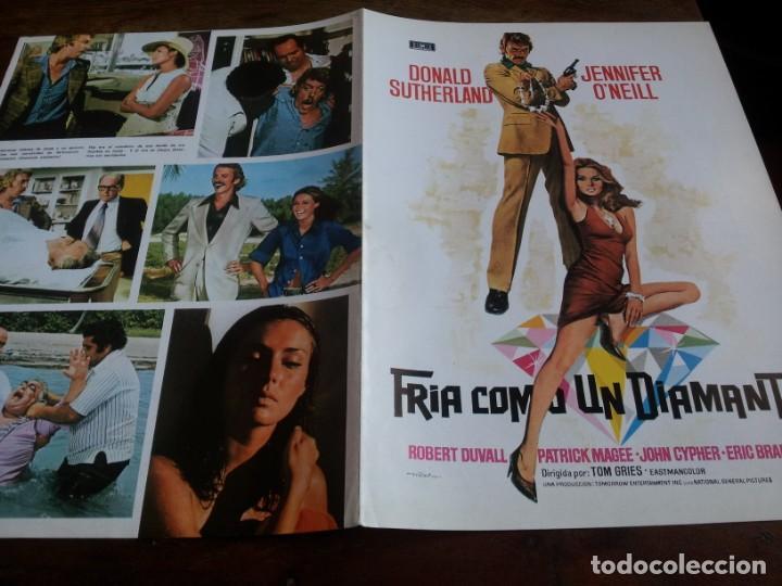 FRÍA COMO UN DIAMANTE - DONALD SUTHERLAND,JENNIFER O'NEILL,ROBERT DUVALL GUIA ORIGINAL MUNDIAL 1974 (Cine - Guías Publicitarias de Películas )