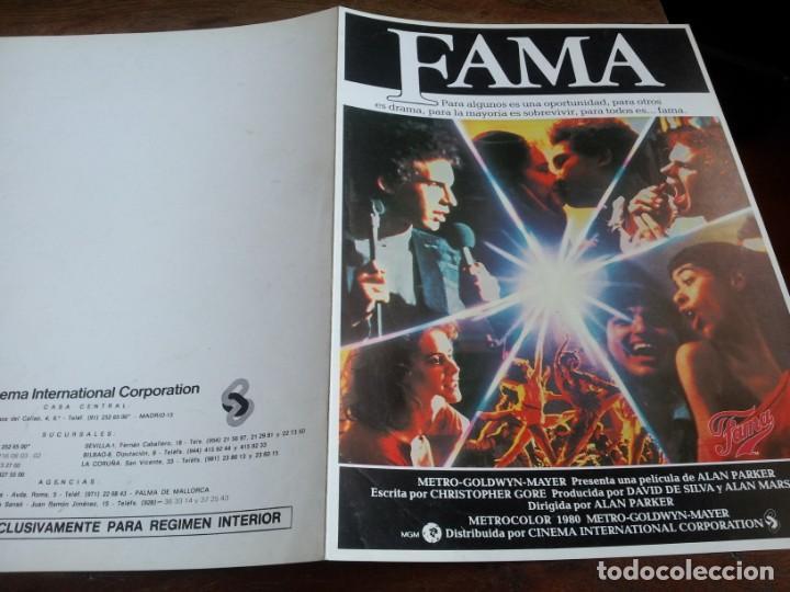 FAMA - IRENE CARA, LEE CURRERI, LAURA DEAN, MEG TILLY, ALAN PARKER - GUIA ORIGINAL C.I.C 1980 (Cine - Guías Publicitarias de Películas )