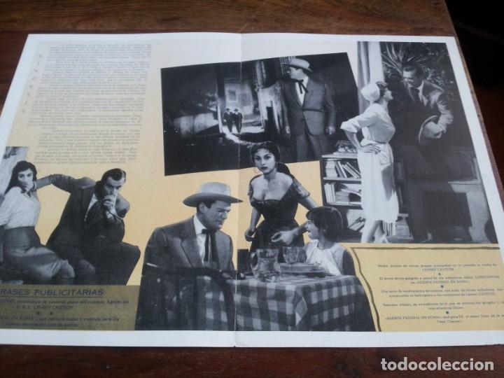 Cine: Agente federal en Roma - Eddie Constantine, Maria Frau, François Perrot - guia original mahier 1959 - Foto 2 - 293668878