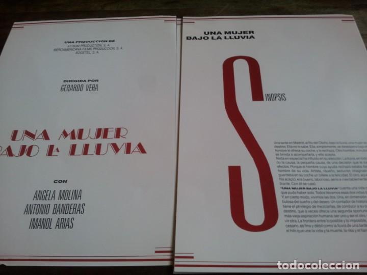 Cine: Una mujer bajo la lluvia - Ángela Molina,A. Banderas, manol Arias - guia original de lujo u.i.p 1992 - Foto 4 - 293669203