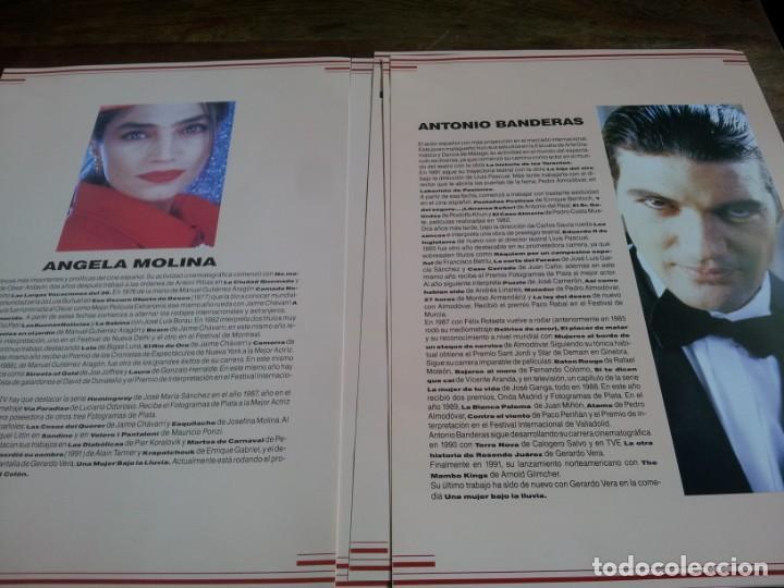 Cine: Una mujer bajo la lluvia - Ángela Molina,A. Banderas, manol Arias - guia original de lujo u.i.p 1992 - Foto 6 - 293669203