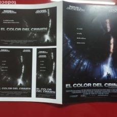 Cine: EL COLOR DEL CRIMEN GUIA ORIGINAL M341. Lote 294455303