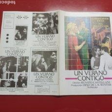 Cine: UN VERANO CONTIGO GUIA ORIGINAL M347. Lote 294566013