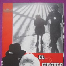 Cine: GUIA PUBLICITARIA CINE EL CIRCULO ROJO KARL SAEBISCH RENATE EWERT G1155. Lote 295648438