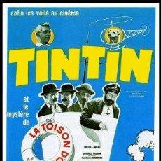 Cine: PELÍCULA DE CINE EN 16MM TINTÍN Y EL SECRETO DEL TOISÓN DE ORO (1961). Lote 50777379