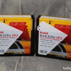 Cine: 2 ROLLOS DE KODAK IMAGELINK HQ 16MM X 65,5M CADUCADA EN 2001 VER FOTOS. Lote 66803734
