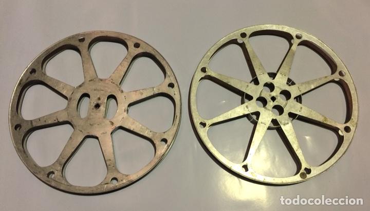 2 BOBINAS DE 600 METROS PARA PELÍCULA DE CINE DE 16MM (Cine - Películas - 16 mm)