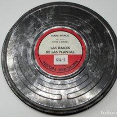 Cine: BOBINA DE CINE DE 16 MM. CON DOCUMENTAL - LAS RAÍCES DE LAS PLANTAS.. Lote 111694615