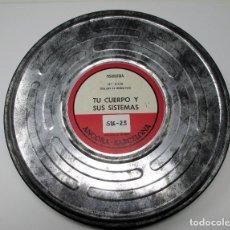 Cine: BOBINA DE CINE DE 16 MM. CON DOCUMENTAL - TU CUERPO Y SUS SISTEMAS. Lote 111695071