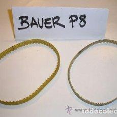 Cine: BAUER P8 SET 2 CORREAS NUEVAS PROYECTOR 16MM. Lote 153310836
