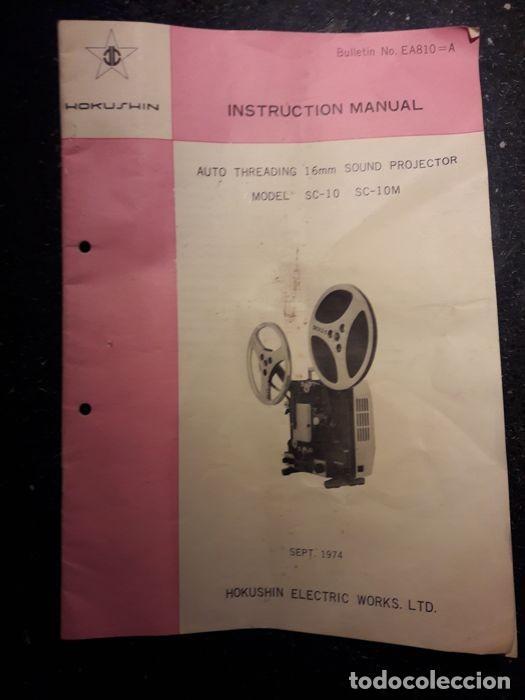 Cine: Proyector cinematográfico antiguo. Marca HOKWSHIN de 16 mm. Años 70. Emblemático. - Foto 5 - 116739327