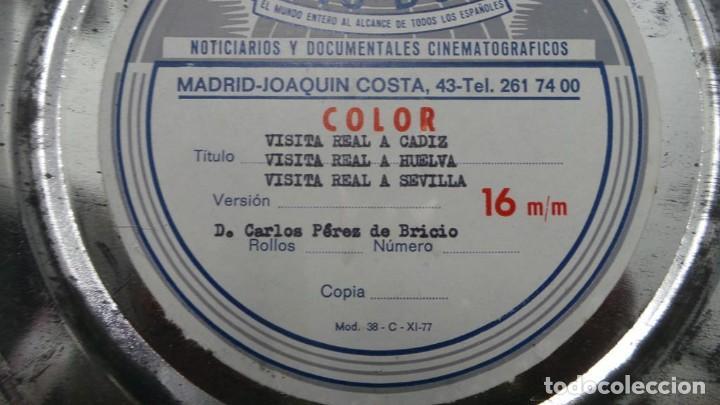Cine: NO–DO, DOCUMENTALES VISITAS REALES CÁDIZ,HUELVA Y SEVILLA COLOR SONORO 16 MM - Foto 81 - 118893815