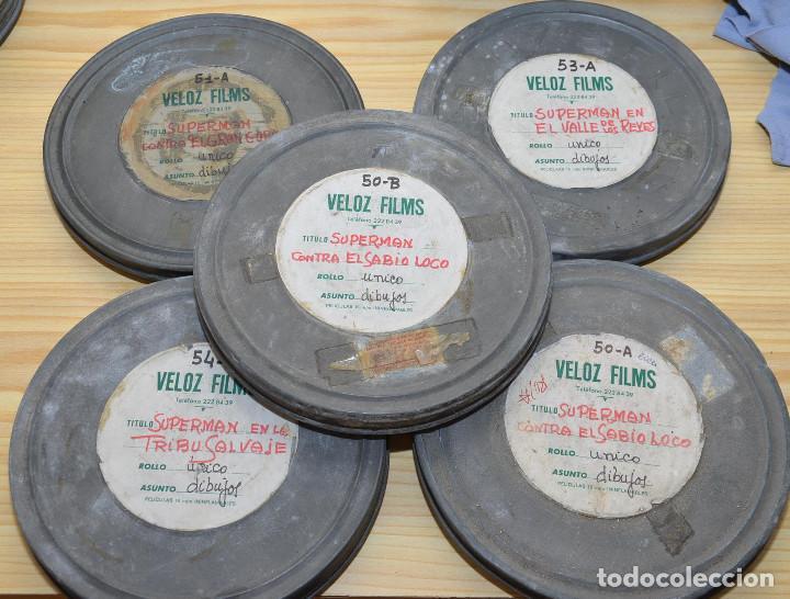 5 CORTOMETRAJES DE SUPERMAN EN 16MM - DIBUJOS ANIMADOS - BOBINAS DE 120M. (Cine - Películas - 16 mm)