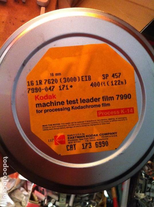 Cine: Película Kodak machine test leader film 7990. 16 mm. 122 m. Processing Kodachrome film Process K-14 - Foto 2 - 201748268