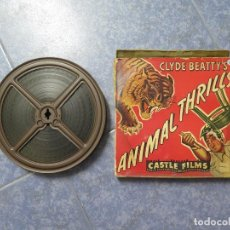 Cine: CLYDE BEATTYS-ANIMAL THRILLS, PELÍCULA 16MM-OLD MOVIE-RETRO - VINTAGE FILM. Lote 172203104
