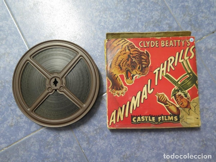 Cine: CLYDE BEATTYS-ANIMAL THRILLS, PELÍCULA 16MM-OLD MOVIE-RETRO - VINTAGE FILM - Foto 109 - 172203104