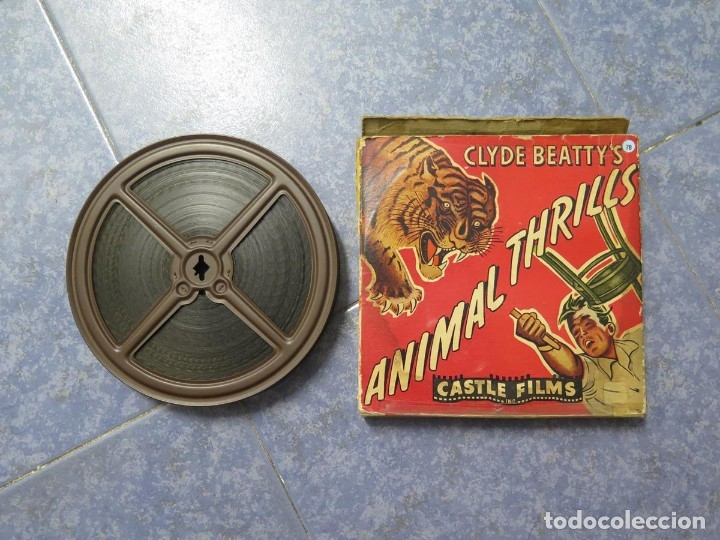 Cine: CLYDE BEATTYS-ANIMAL THRILLS, PELÍCULA 16MM-OLD MOVIE-RETRO - VINTAGE FILM - Foto 110 - 172203104