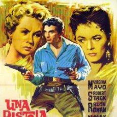 Cine: UNA PISTOLA AL AMANECER (1956 / WESTERN / RKO) COMO NUEVA. Lote 185471515