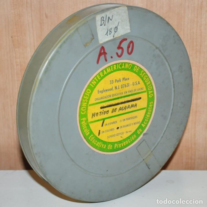 Cine: MOTIVO DE ALARMA - Película educativa de prevención de accidentes. Cine de 16 mm. - Foto 4 - 185735745