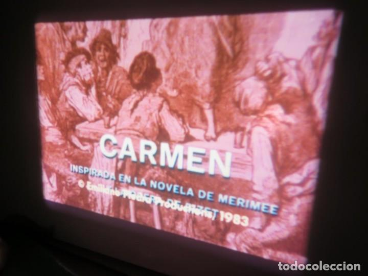 Cine: CARMEN (CARLOS SAURA) LARGOMETRAJE PELÍCULA 16 MM - 3 x 600 MTS. RETRO-VINTAGE FILM-REBAJADA (100 E) - Foto 31 - 193242626