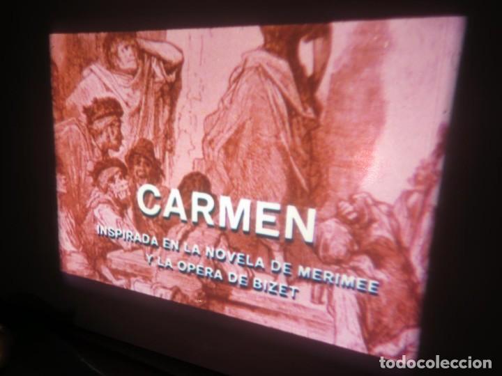 Cine: CARMEN (CARLOS SAURA) LARGOMETRAJE PELÍCULA 16 MM - 3 x 600 MTS. RETRO-VINTAGE FILM-REBAJADA (100 E) - Foto 32 - 193242626